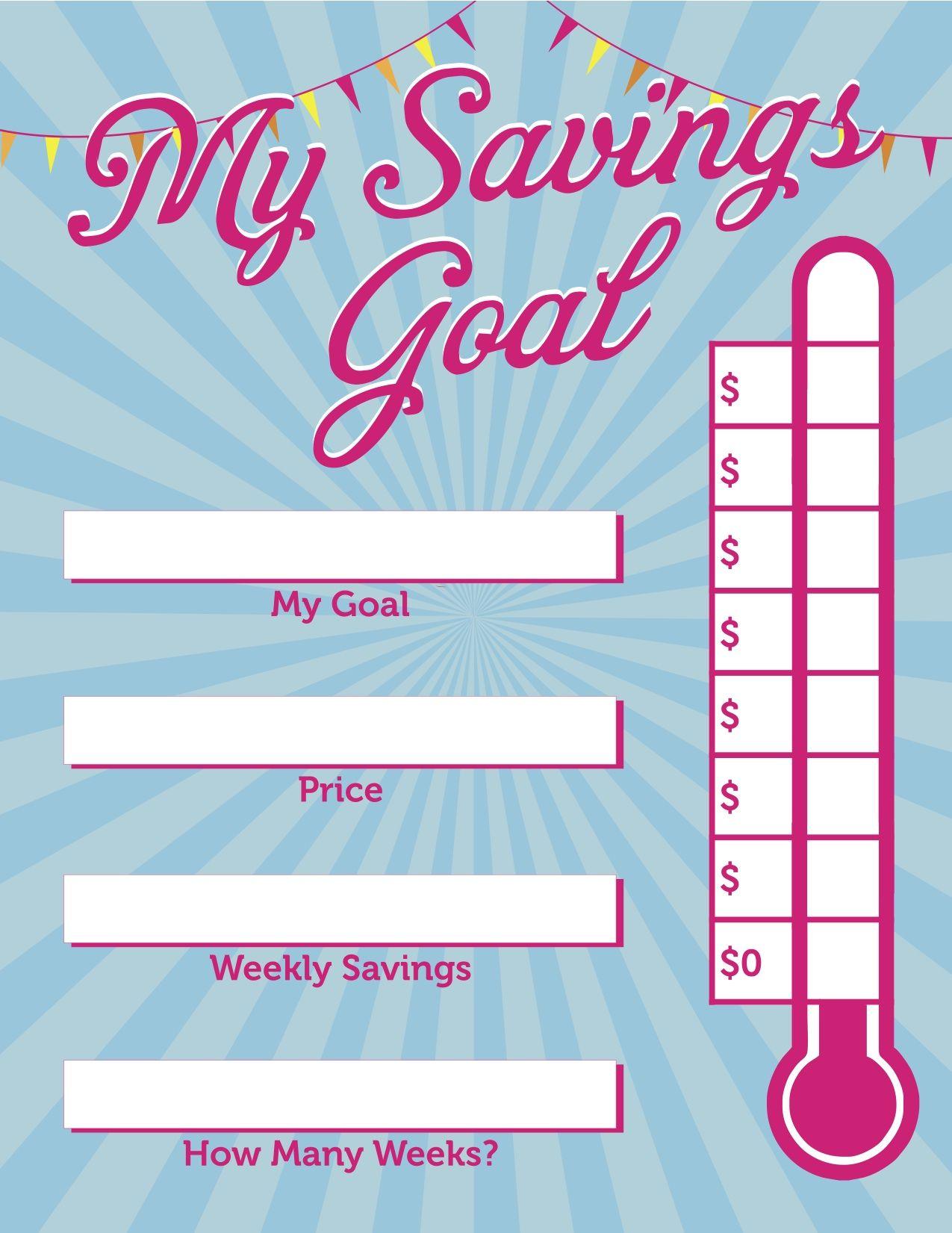 Kids Savings Chart Help Kids Save Money Description From