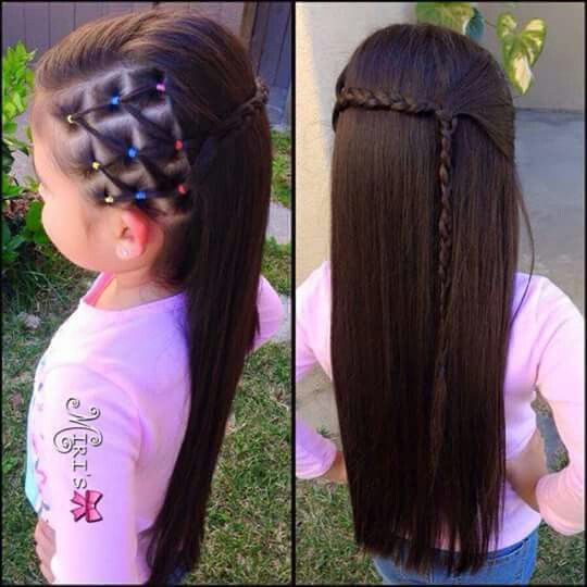 Penado para niñas con ligas chona Pinterest Penados, Para - peinados de nia faciles de hacer