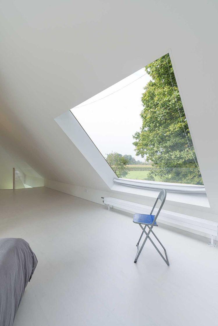 Loft bedroom privacy  Netherlands home bedroom and skylight  Loft conversion  Pinterest
