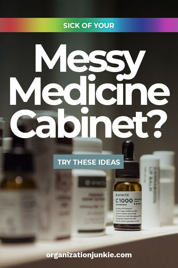 Sick of Your Messy Medicine Cabinet? Try These Ideas #organizemedicinecabinets