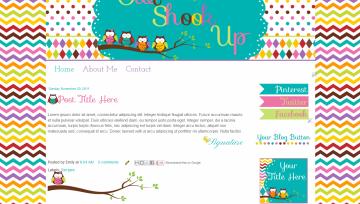 premade blog templates teachers owls modern cute owl shook up design