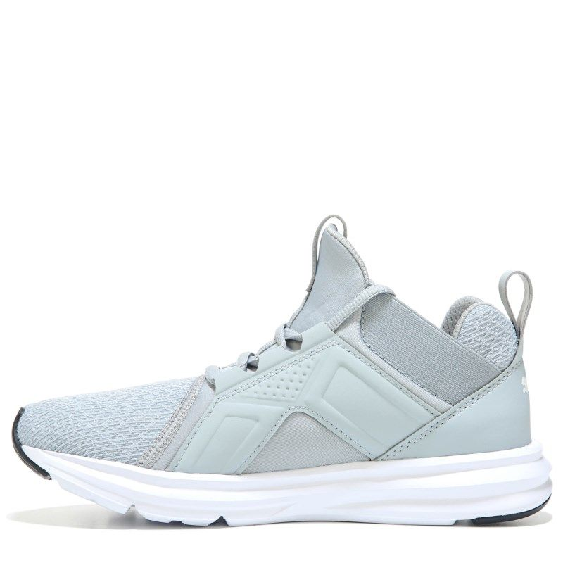 4125421c5a7 Puma Kids' Enzo Running Shoe Grade School Shoes (Grey/White) - 5.5 M