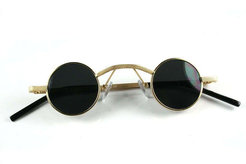 08b3bfbb294af small round gold Goth vampire Steampunk techno retro Victorian sunglasses  Hi-Tek