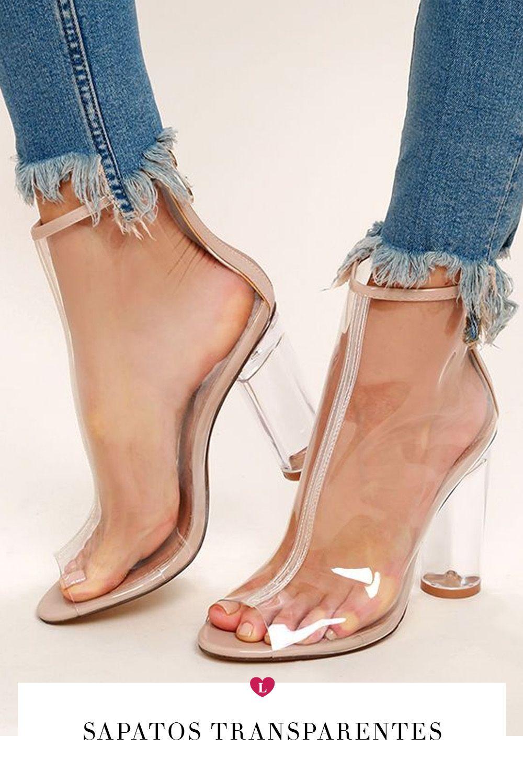 220622bd8 salto transparente sapatos verão 2019 | Clothe in 2019 | Sapatos ...