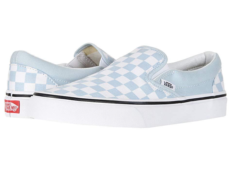 Vans Classic Slip Ontm Skate Shoes (Checkerboard) Baby Blue