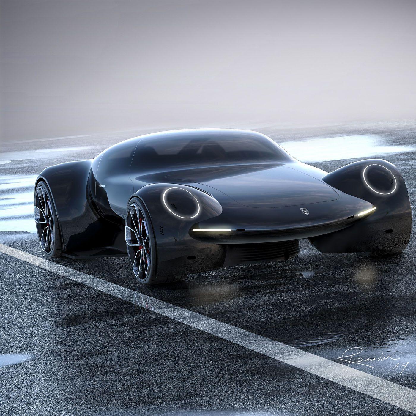 Porsche 9e1 Study Envisions An All Electric Future Hypercar Carscoops Super Cars Futuristic Cars Concept Car Design