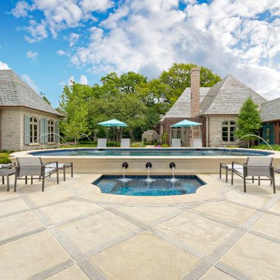 Limestone paving. Private Residence - Country French Estate