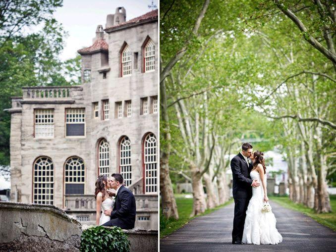 Real Penn Wedding Bride Groom Traditional Black Tux White Dress Castle Venue Full Jpg 678 509