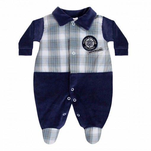 Macacão para Bebê Menino com Listras :: 764 Kids Loja Online, Roupa bebê e infantil !