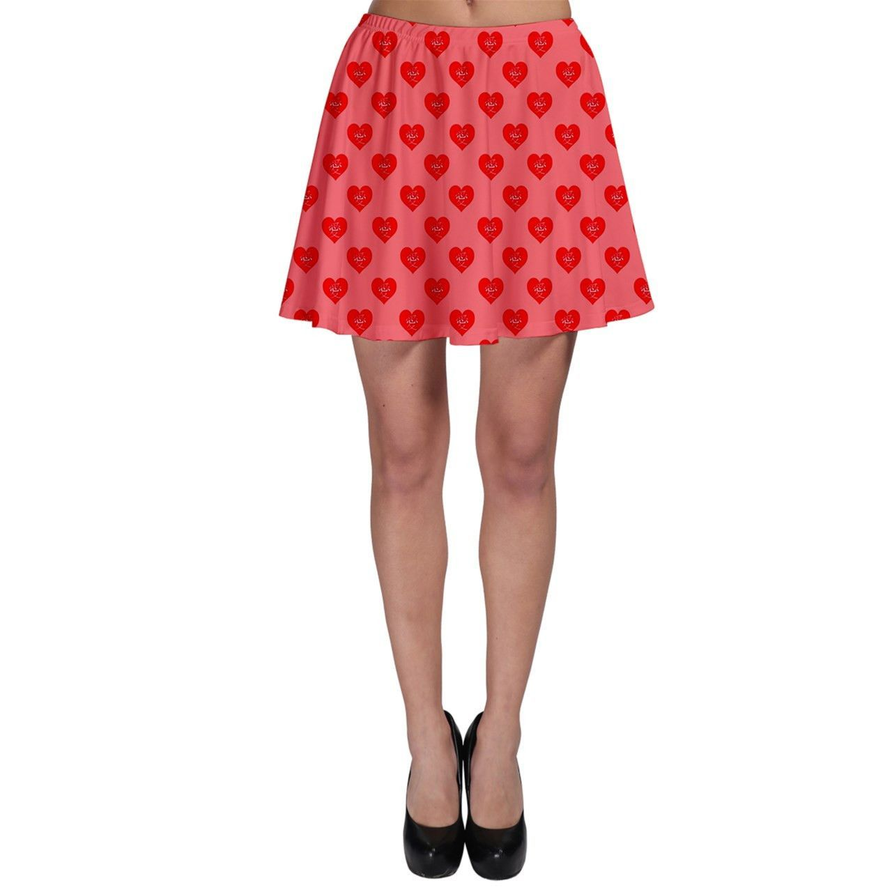 Chinese Loving Hearts Skater Skirt 5 Colors