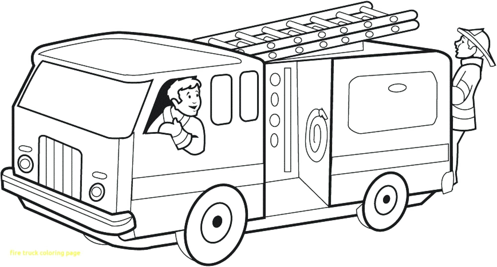 Coloring Pages Of Cars And Trucks Frais Fire Truck Coloring Page