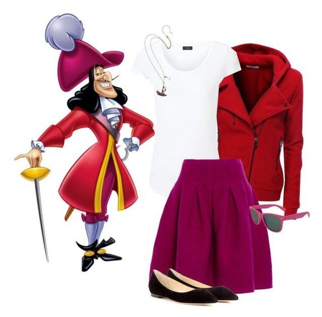 """Captain Hook"" by tinkerbells-laughter ❤ liked on Polyvore featuring moda, Doublju, Joseph, Oscar de la Renta, Disney ve Jimmy Choo"