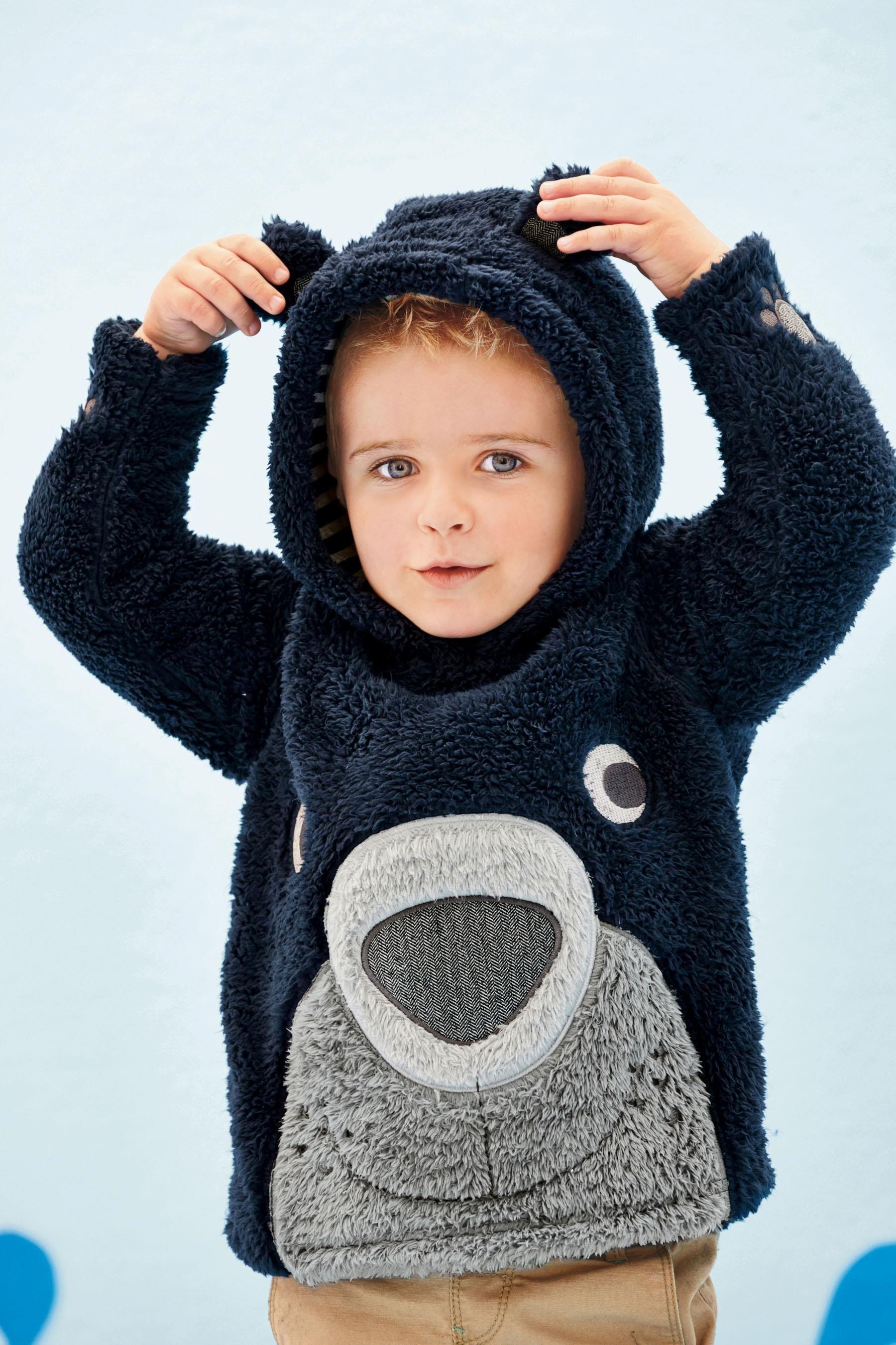 Buy Navy Fluffy Bear Fleece 3mths 6yrs from the Next UK online