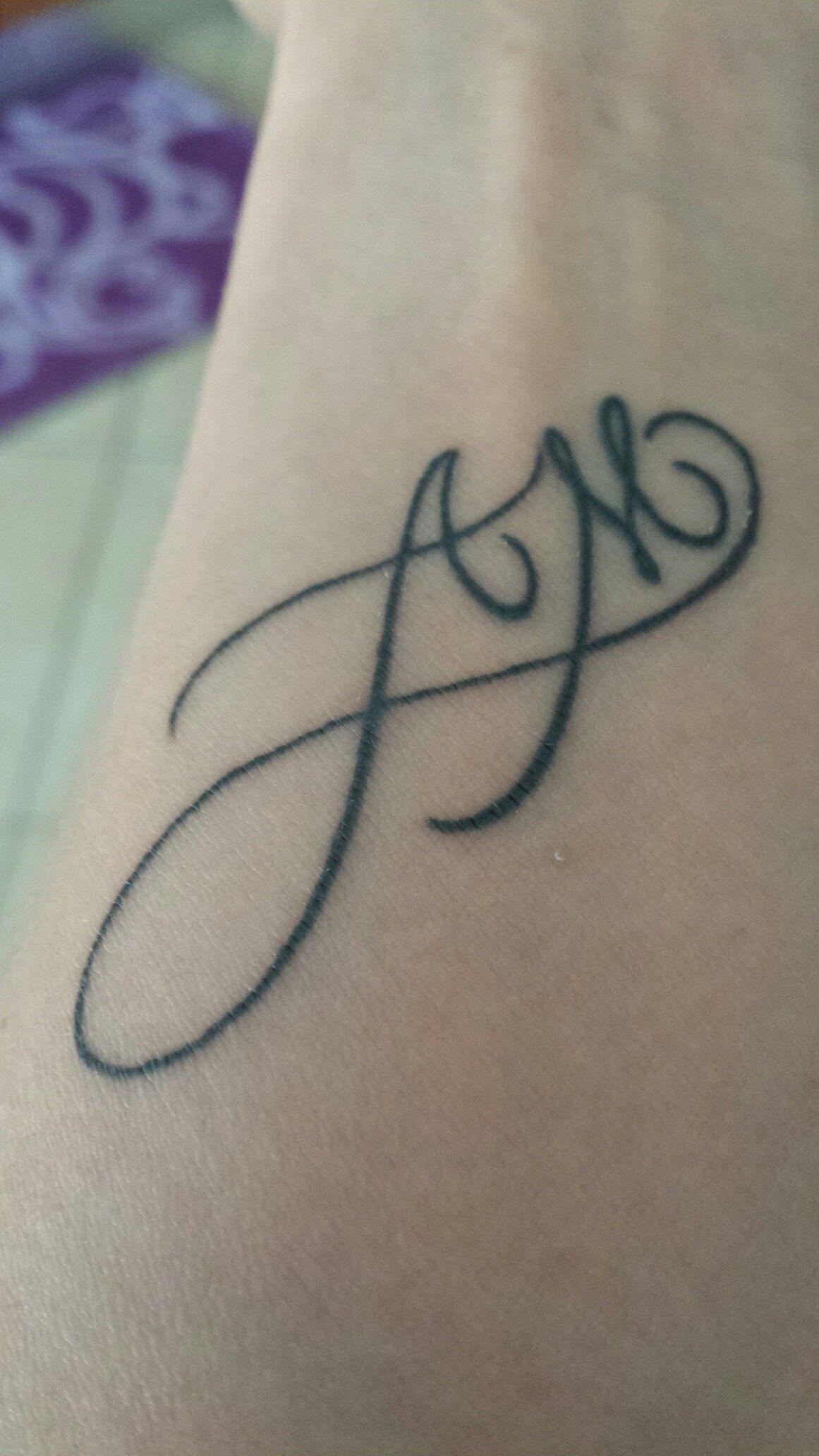 L Amore Infinito Per I Miei Genitori Initial Tattoo Alphabet