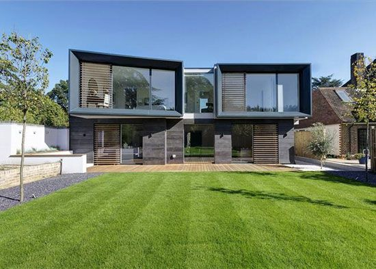 hilltop house contemporary modernist property in kingston upon thames surrey - Contemporary Property