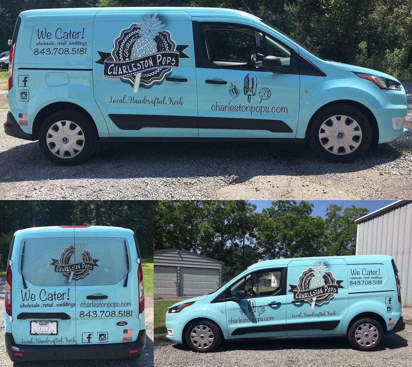 Charleston Wraps Charleston Pops Full Van Vinyl Wrap In 2020 Vinyl Wrap Car Wrap Commercial Vehicle