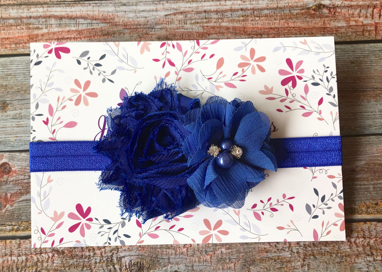 Baby Headband Baby Girl Headband Royal Blue Headband Newborn Headband Royal  Blue e0fdde9a911