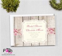 Shabby Chic Bridal Shower Invitation