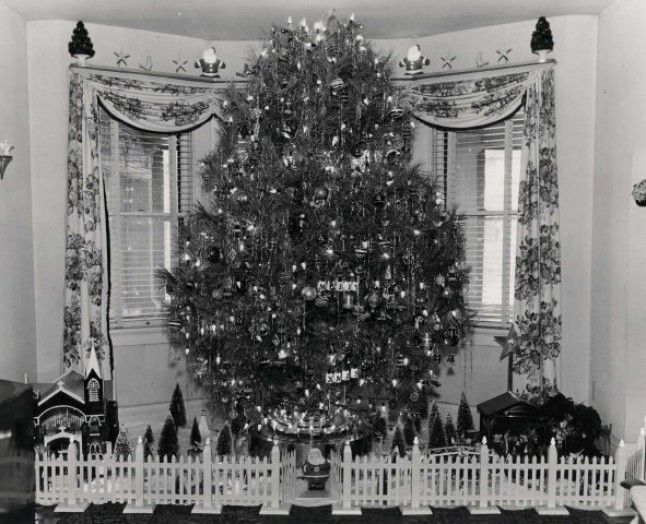 1950 christmas grandpa tree black and white photo Xmas Pinterest