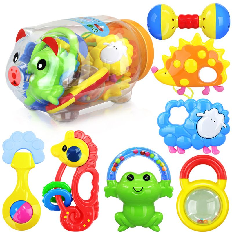 Baby Sensory Educational Toy Soft  Gift Cartoon Animal fish Rattle
