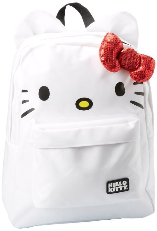 457521f13 White Jansport Hello Kitty Backpack, my daughter wants this bag it will  match her iPhone case and laptop bag