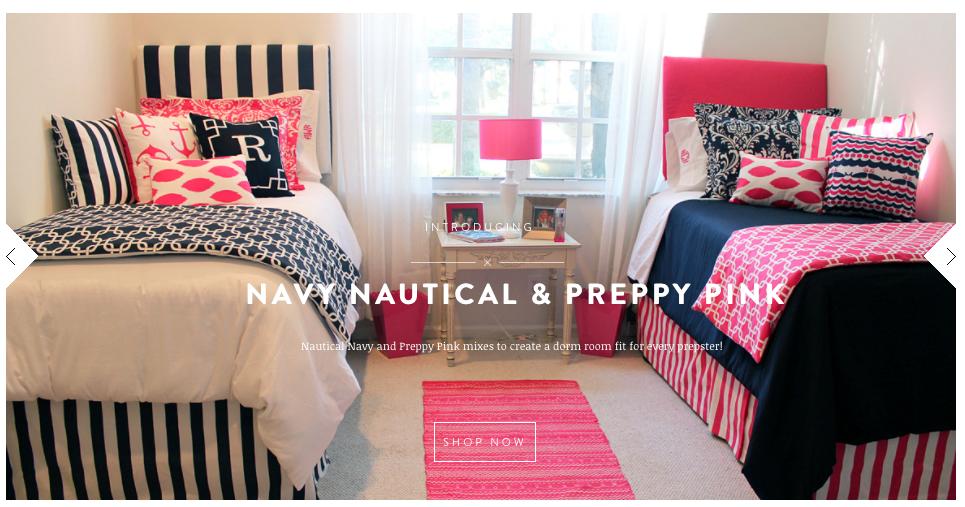 pink and navy bedding nautical navy and preppy pink designer bed in a bag set. Black Bedroom Furniture Sets. Home Design Ideas