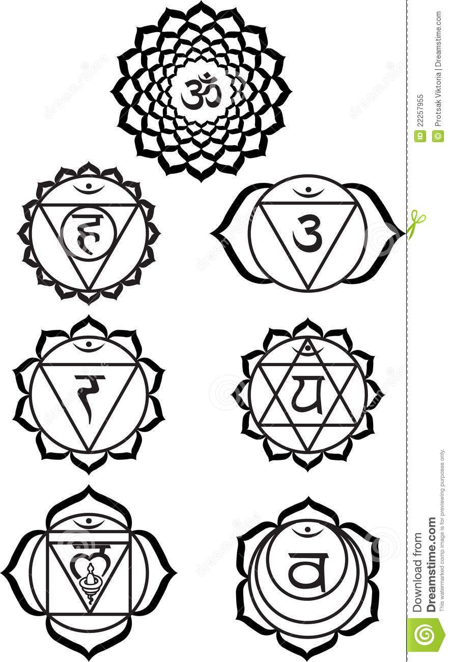 chakra symbols coloring pages - photo#24
