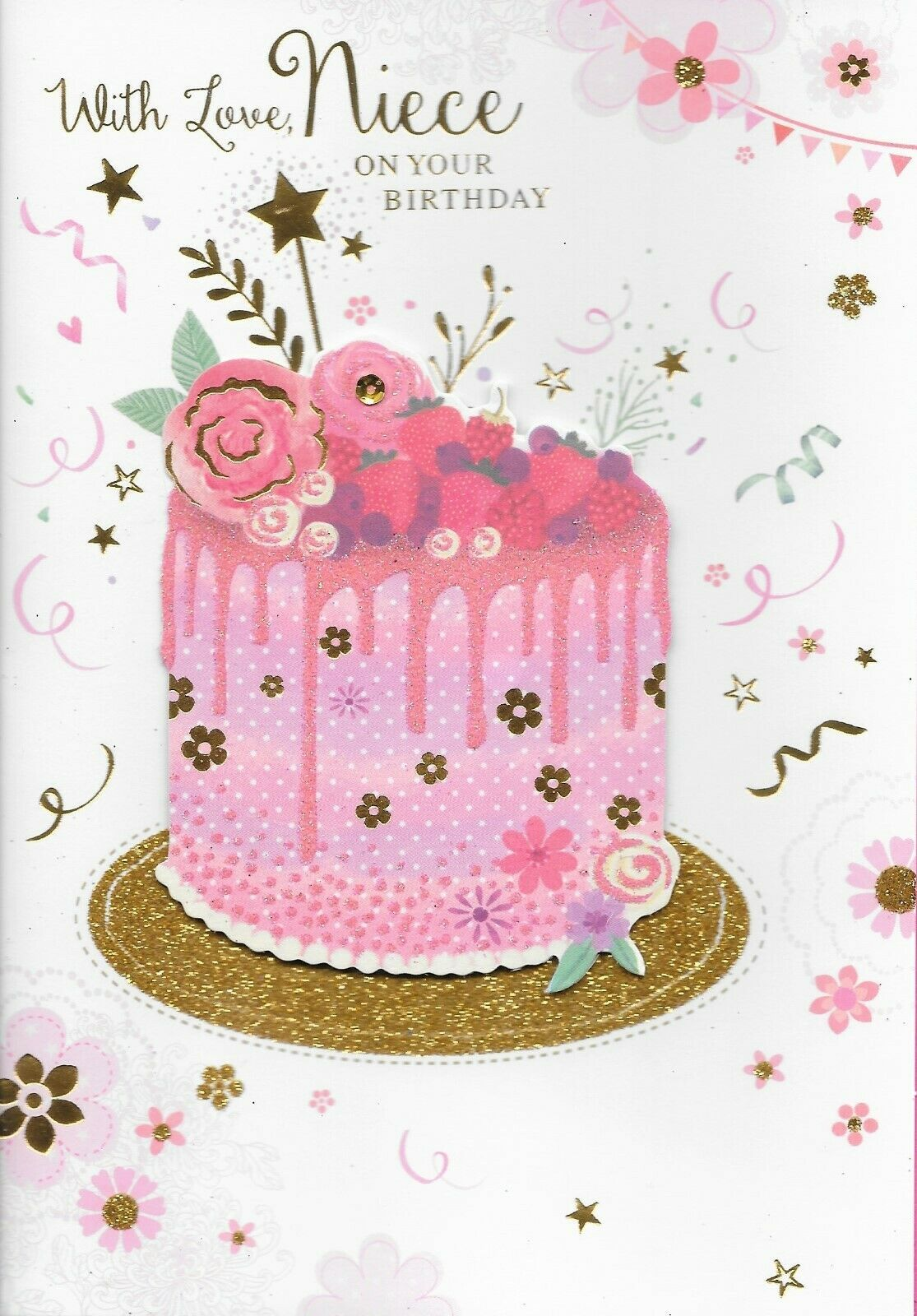 Isabels garden niece birthday cardcards 3d handmade