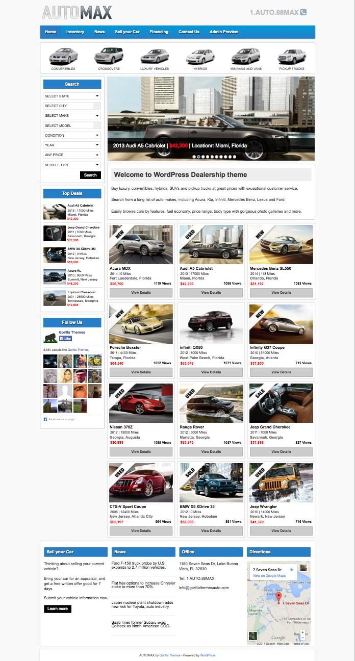 AutoMax Theme for Selling Classified Ads & Used Car Listings | Wordpress