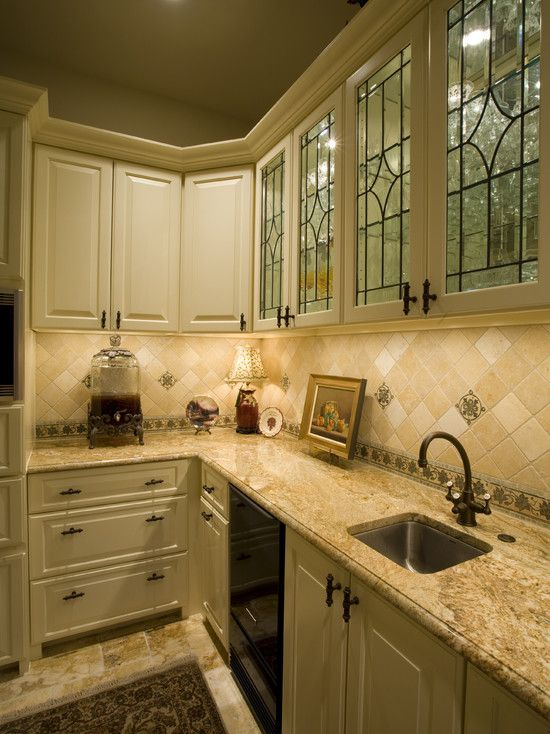 Kitchen Design Details Pretty Leaded Glass Windows Front A Lighted