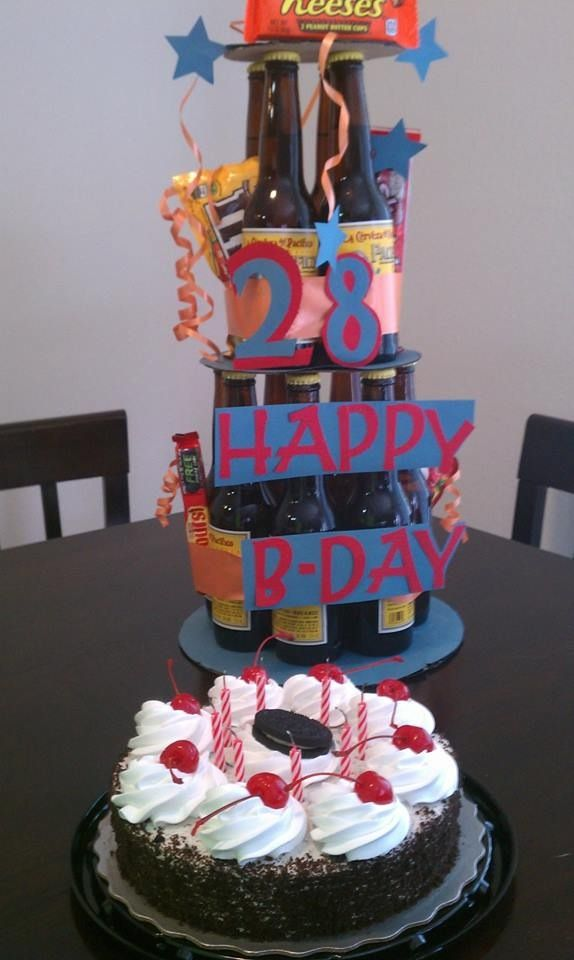 Beer Cake For Husbands 28th Birthday Beer Cake Cake For