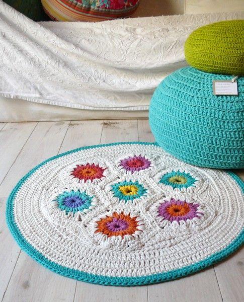Rug Crochet - hexagon. €59.00, via Etsy.