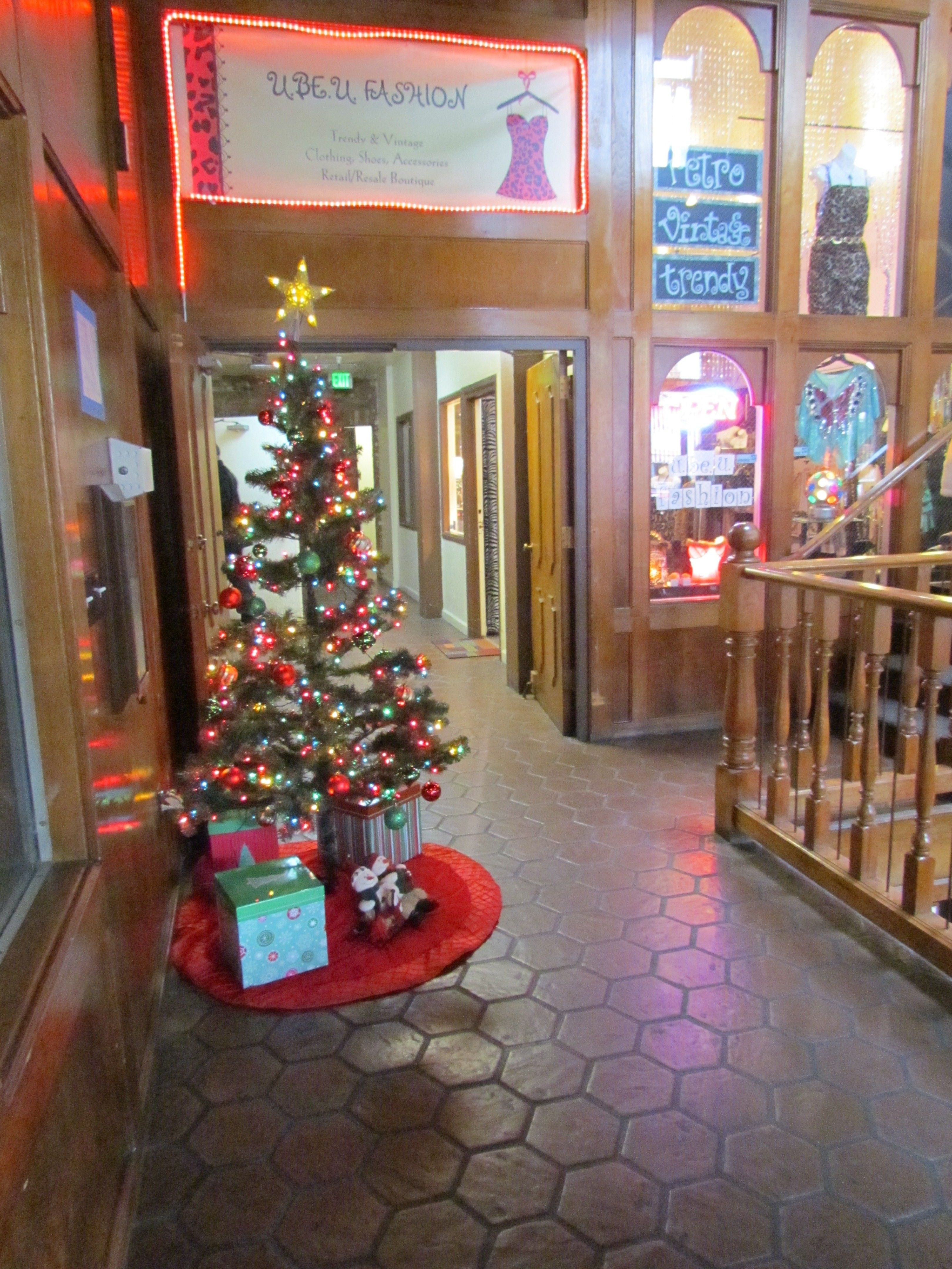Our humble Christmas Tree located in the Union Hotel building in Old ...