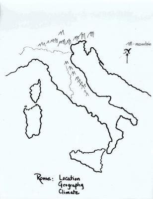 MrGuerrieros Blog Ancient Rome Map Good Blank Map Of Italy For - Ancient rome map blank