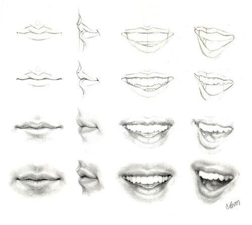 how to draw lips drawing pinterest zeichnen lippen zeichnen und mund. Black Bedroom Furniture Sets. Home Design Ideas