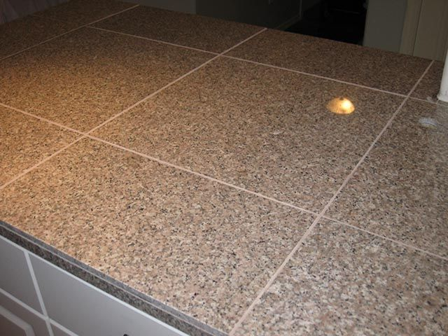 Granite Tile Countertops Without Grout Lines Formica Type Surfaces