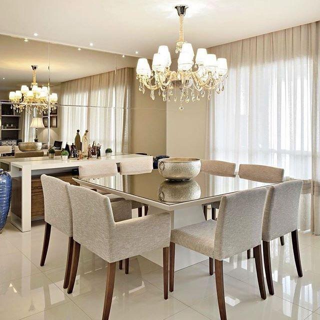Sala de jantar ✨ regram @msespaco Apartamento em Ribeirão Preto
