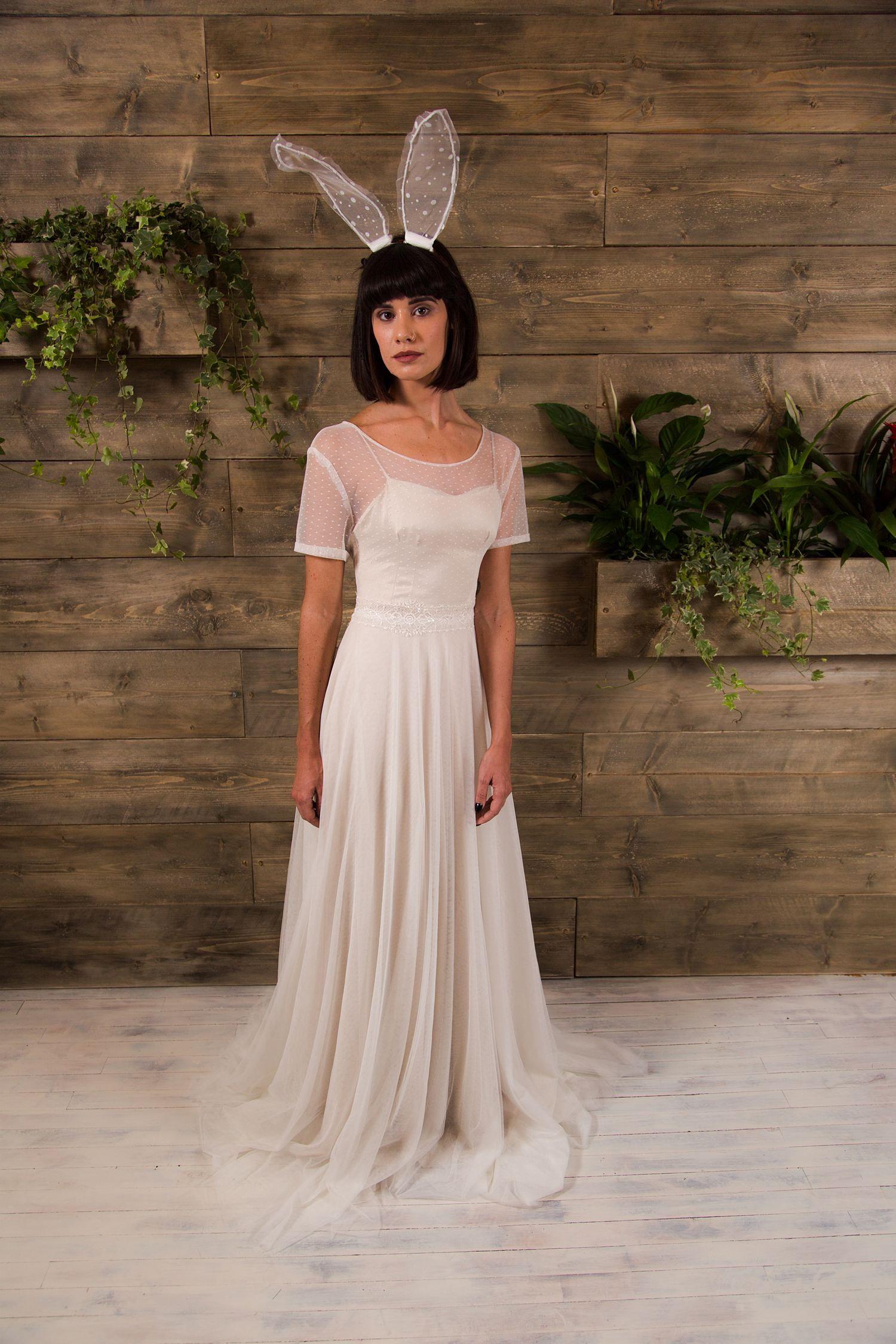 Neive wedding gown || Alternative wedding dresses || Polka dot tulle ...