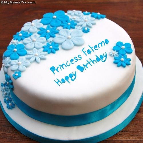 Tremendous The Name Princess Fatema Is Generated On Birthday Ice Cream Cake Funny Birthday Cards Online Alyptdamsfinfo