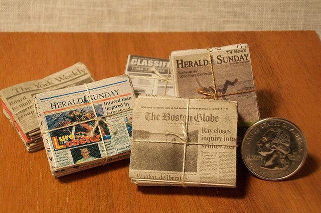 Miniature Dollhouse Newspaper The Boston Globe