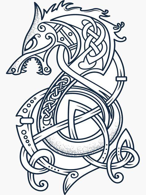 Viking Line Art Google Search Viking Dragon Tattoo Viking Dragon Viking Warrior