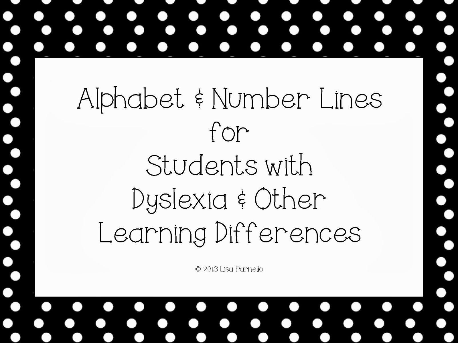 Special Alphabet Amp Number Line For Dyslexia A Special Sparkle