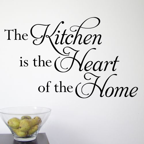 Items Similar To The Kitchen Is Heart Of Home Wall Vinyl Design Decal On Etsy