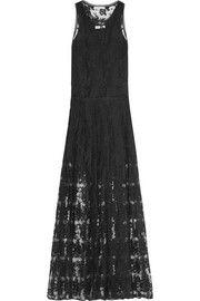 ChloéCotton-blend lace gown