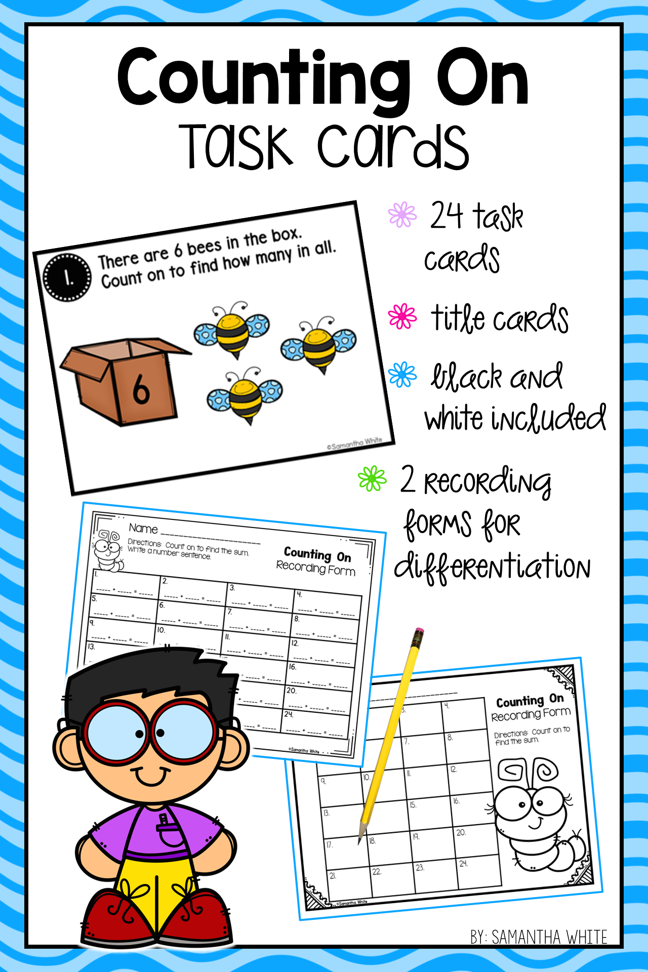 Reinforce The Counting On Strategy With This Set Of Task Cards That Uses Pictures For Pract Task Cards Elementary School Math Activities Elementary School Math [ 1920 x 1280 Pixel ]