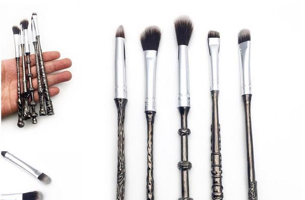 These Harry Potter makeup brushes that look like actual wands are everything
