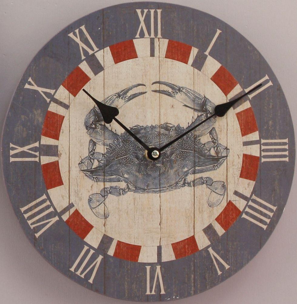 Wood crab wall clock clocks pinterest wall clocks wood crab wall clock amipublicfo Gallery
