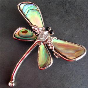 Paua Dragonfly Brooch 17th wedding anniversary, Wedding
