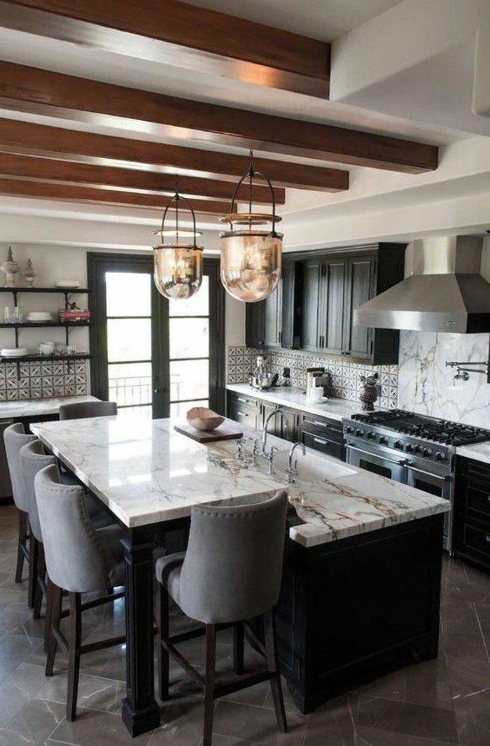 chaise de cuisine design chaises moelleuses et table haute de cuisine