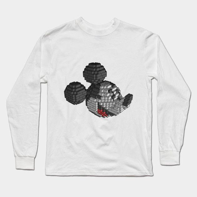 Brickey Mouse Long Sleeve T-Shirt